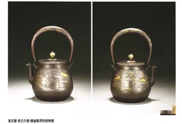 """收藏日本铁壶讲究原壶配原盖:老铁壶的""""七宝铜盖"""""""