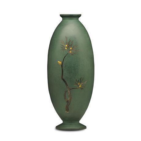 松雕金花瓶