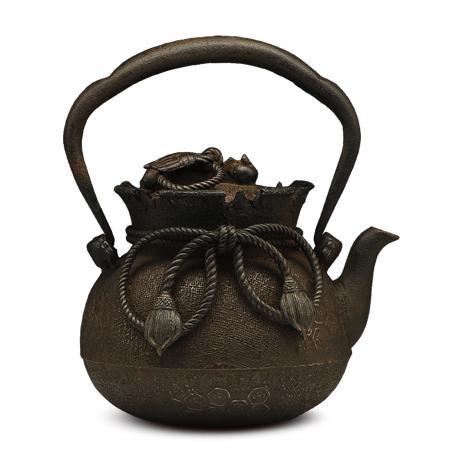 上田照房 失蜡法铸造 布袋型老铁壶