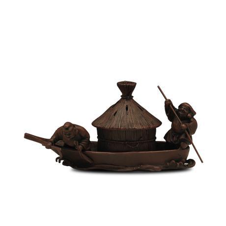 泛舟割藻香炉