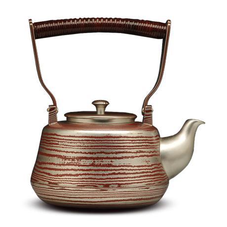 木目金工艺 精品银水壶