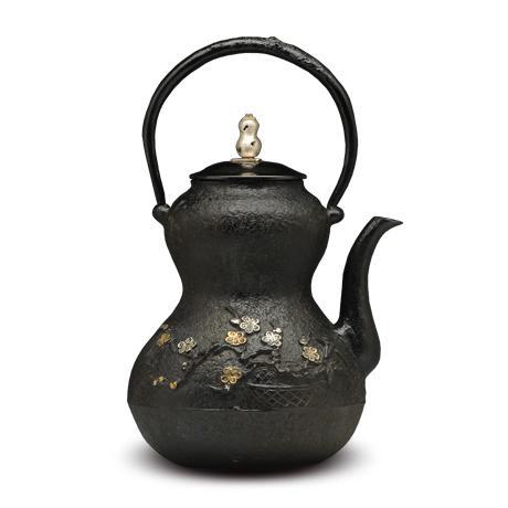 葫芦形松竹梅铁壶