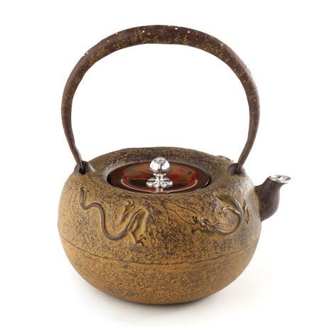 失蜡法铸造 丸芦屋龙铁壶