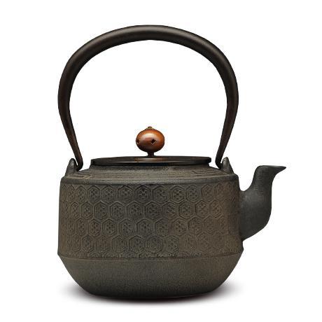 清光堂 宽肩型龟甲纹 砂铸铁壶