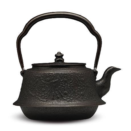 富士形樱砂铸铁壶