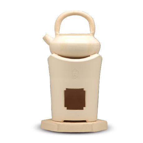春峰造白泥凉炉、茶壶套件