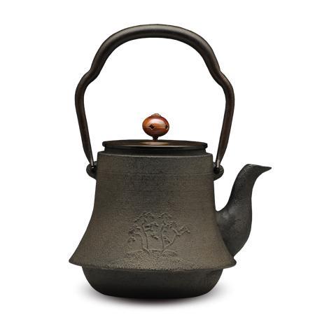 清光堂 富士形松纹铁壶