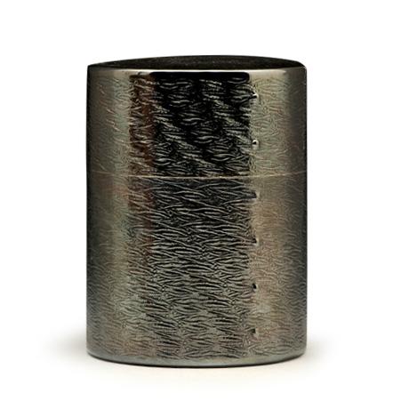 银川堂 镀银涟波茶罐(熏银)
