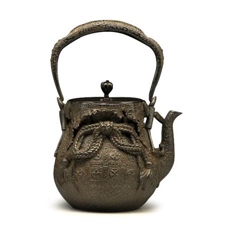 龙文堂大国写 宝袋型铁壶