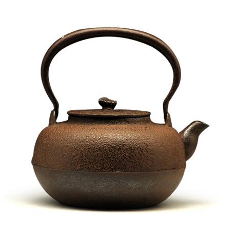 古代平丸铁壶