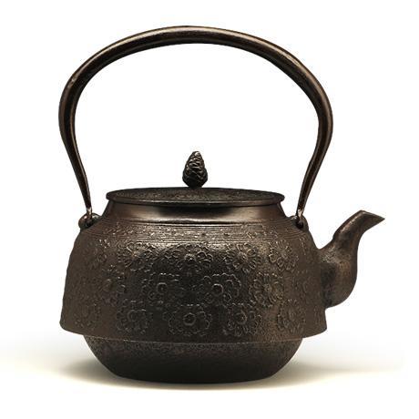 长寿堂 大德寺樱纹铁壶