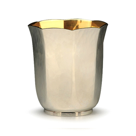 纯银八角银杯子