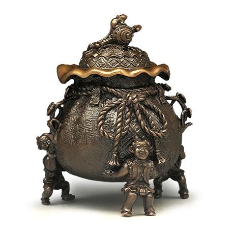 喜泉堂 茶袋型香炉(大)