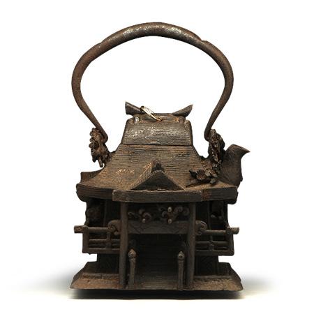 上田照房 神殿型老铁壶