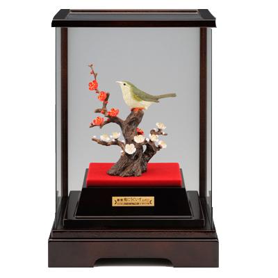 【梅花莺】 银制置物