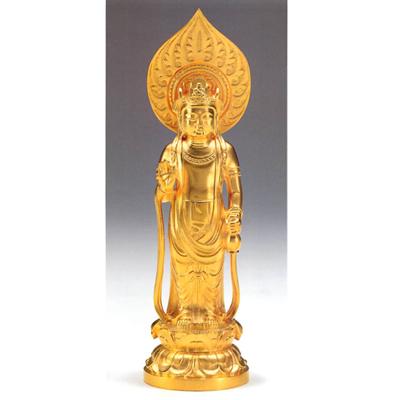 【圣观音菩萨像】纯金制佛像