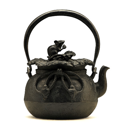 上田写 宝袋形铁壶
