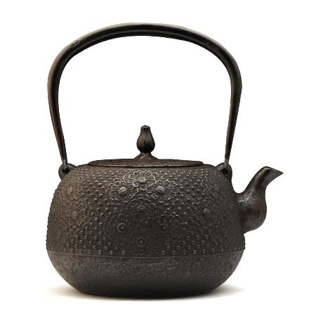 长寿堂 枣形樱纹铁壶