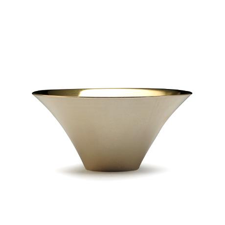 大渊银器 富士山型茶杯(内镀金)