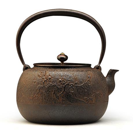 长文堂 手取梅花纹铁壶
