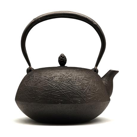 铃木盛久工房 算珠形松叶纹铁壶