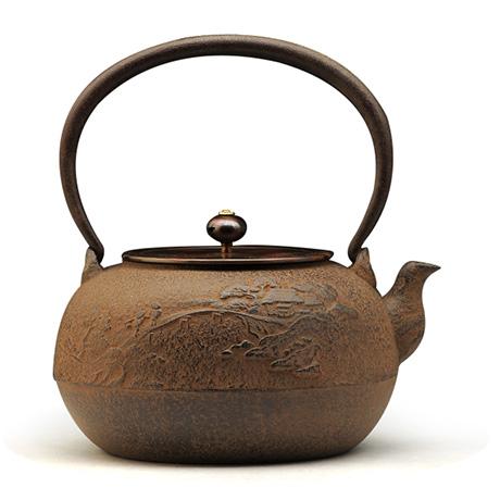 平丸山水铁壶