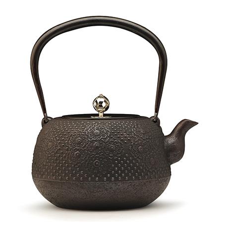 长寿堂 枣形樱银摘铁壶