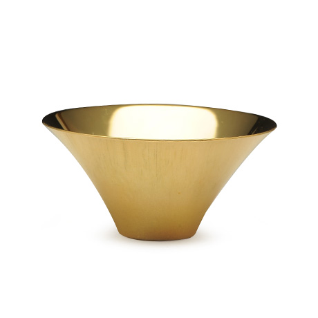 大渊银器 富士山型茶杯(全镀金)