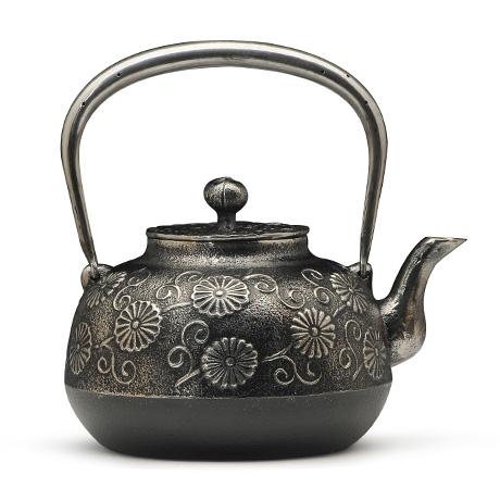 金野和司 立口唐菊砂铁壶