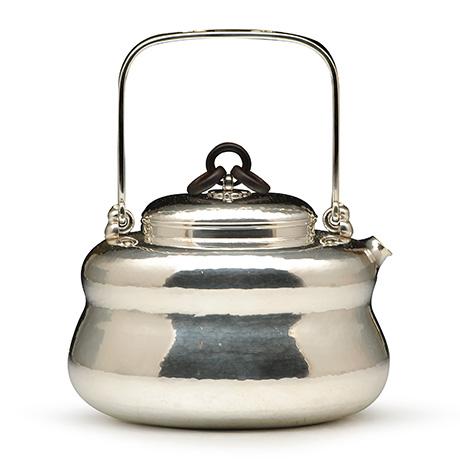 竹影堂葫芦形锤起银壶