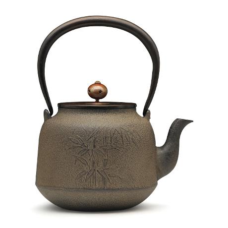 清光堂 真形竹纹铁壶