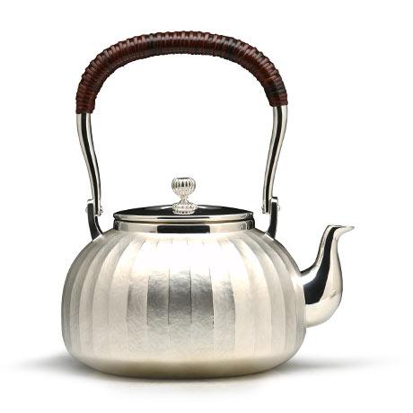 大渊银器 平丸立筋银壶(5寸)