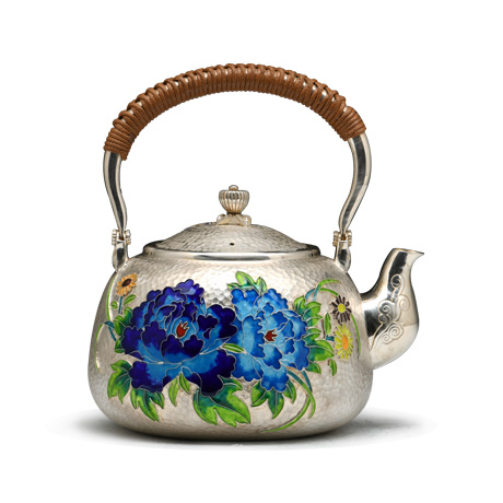 景泰蓝银壶