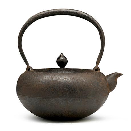 平馆军太郎 平丸形砂铁素肌老铁壶