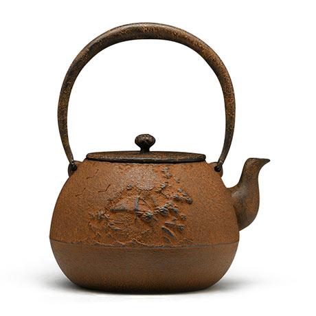 清光堂 山水地纹砂铁壶