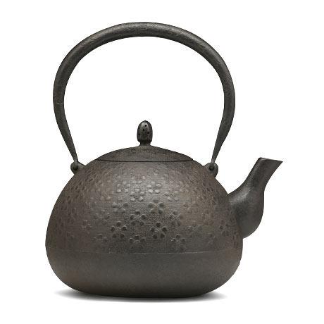 铃木盛久工房 樱纹丸形铁壶