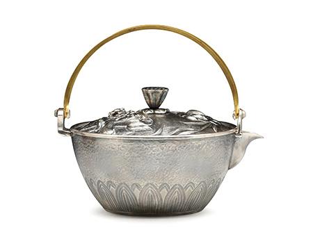 荷塘月色泡茶银壶