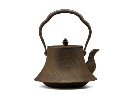 虎山工房 富士形马砂铸铁壶
