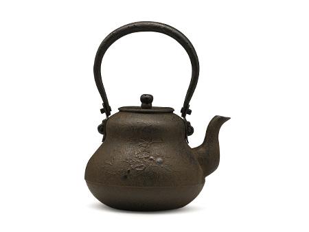 铃木主善堂 葫芦形铁壶