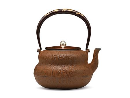 云色堂 纯金镶嵌葫芦形铁壶