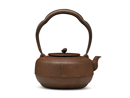 菊地保寿堂 木目纹铁壶