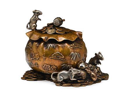 金钱鼠宝袋香炉
