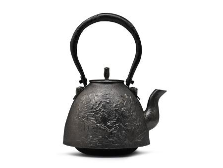 虎山工房 南部形牡丹砂铁壶(小号)