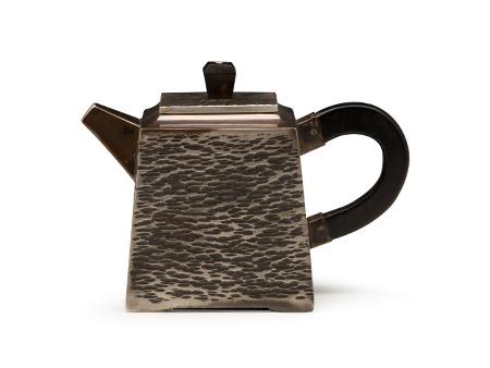 四方小茶壶(锤纹)