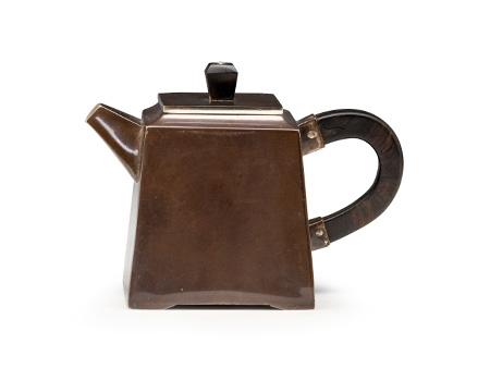 四方小茶壶(薰银)