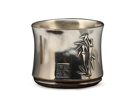 竹纹小银杯