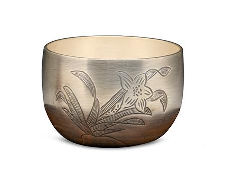 纯银杯(兰花)