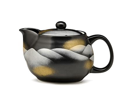 日本九谷烧 金银彩连山 茶壶