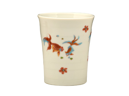 日本九谷烧 金鱼杯