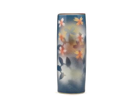 日本九谷烧 土耳其花纹 花瓶